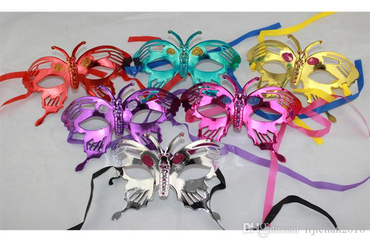 Womens girls veneziana flash glitter maschera principessa danza ape maschera per halloween masquerade maschera one size si adatta più (piccolo)