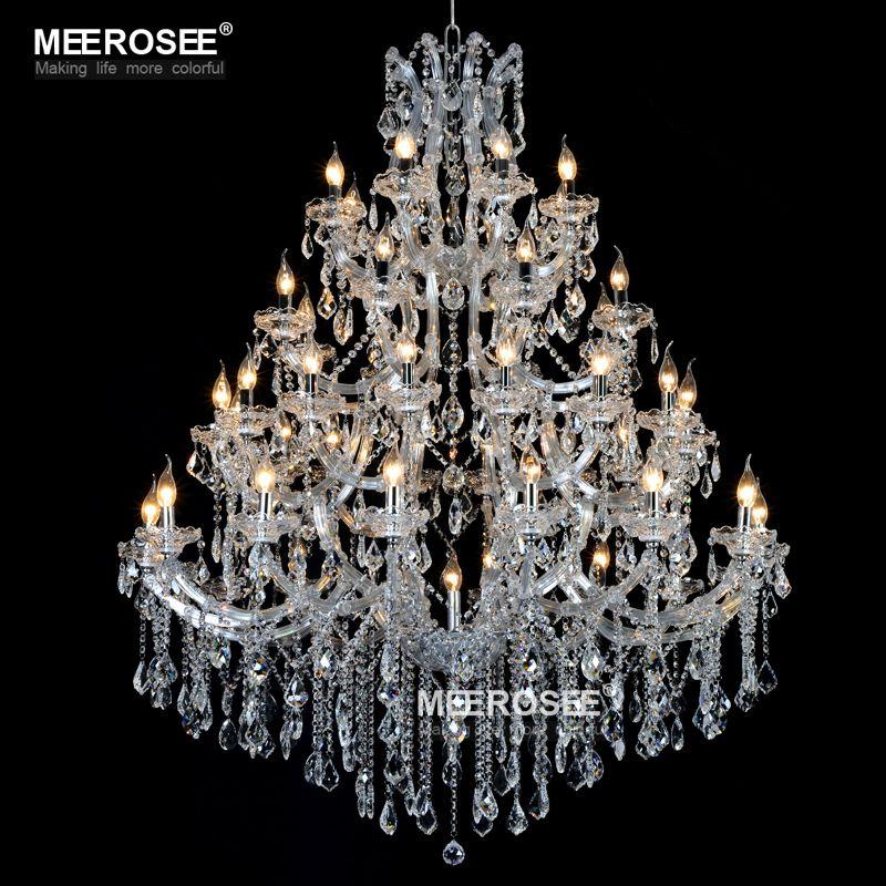 Lampadario di cristallo di grandi dimensioni di lusso Illuminazione Maria Teresa di luce di cristallo per la lampada Luminaria del ristorante dell'hotel Lustres