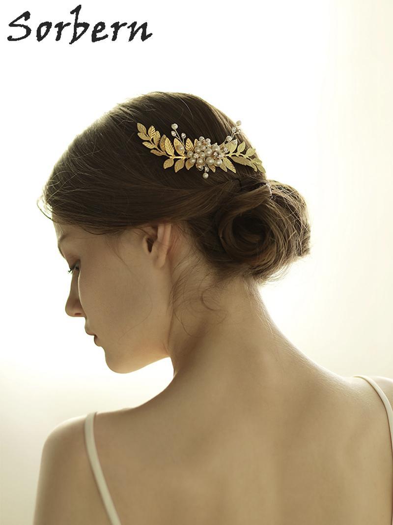 Sorbern Gold/ Silver Hair Comb Bridal Tiara Wedding Hair ...