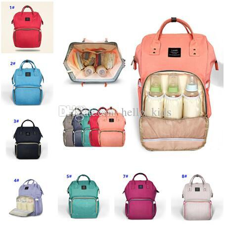Mode Mummy Maternity Nappy Bag Merk Grote Capaciteit Baby Baby Travel Rugzak Desiger Nursing Bag voor Baby Care