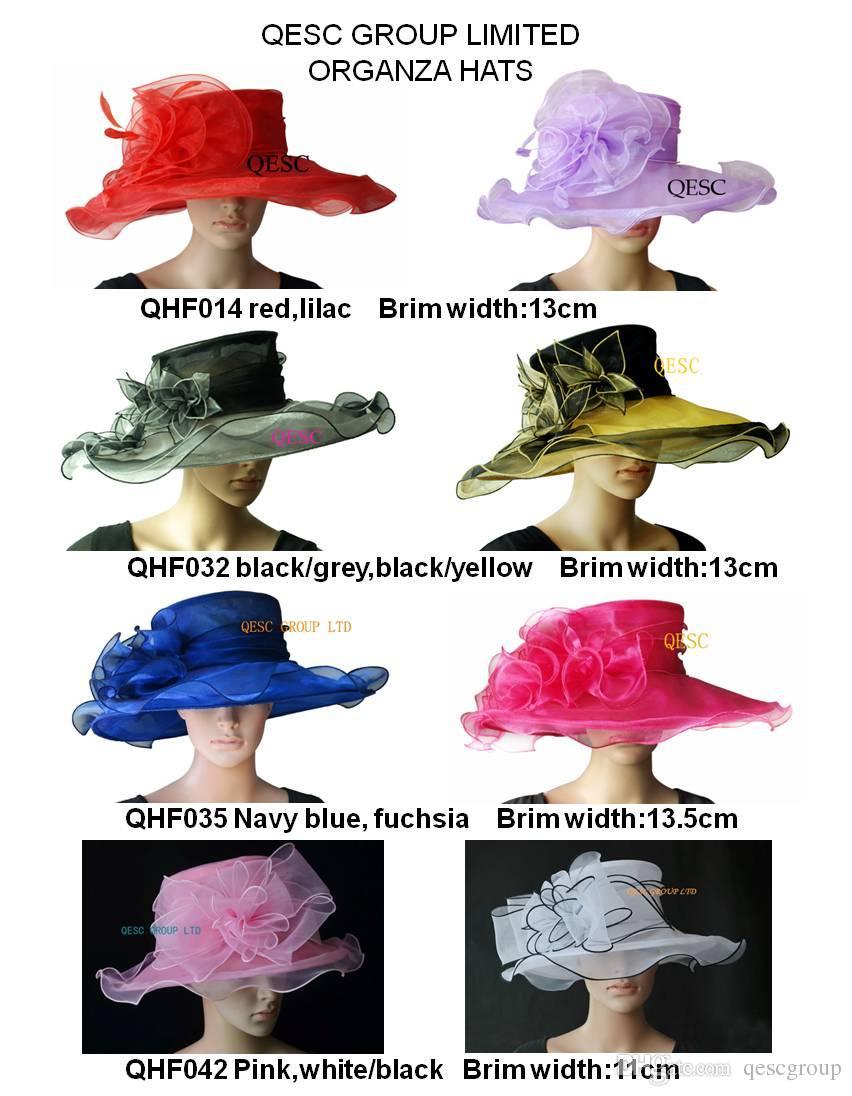 Nieuwe aankomst ontwerp jurk organza hoed met parel voor Kentucky Derby, kerk, bruiloft, races, ascot, feest
