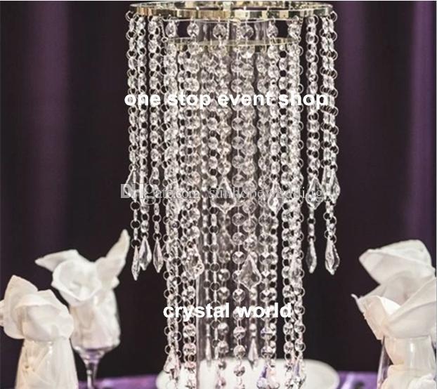 ruban mental avec le cristal Trump Gatsby centres de plumes de mariage
