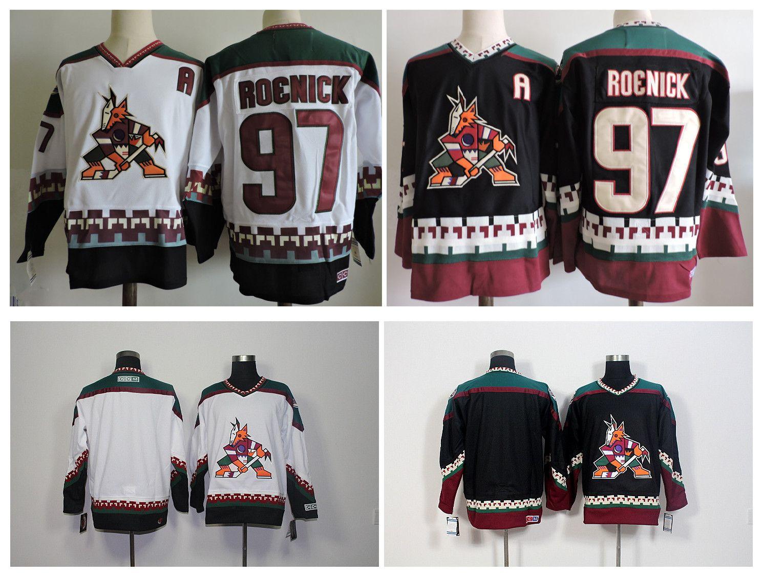 Top Quality ! 2016 Men Phoenix Coyotes 97 Jeremy Roenick Hockey Jerseys Cheap Arizona Blank Authentic Retro Vintage CCM Stitched Jerseys