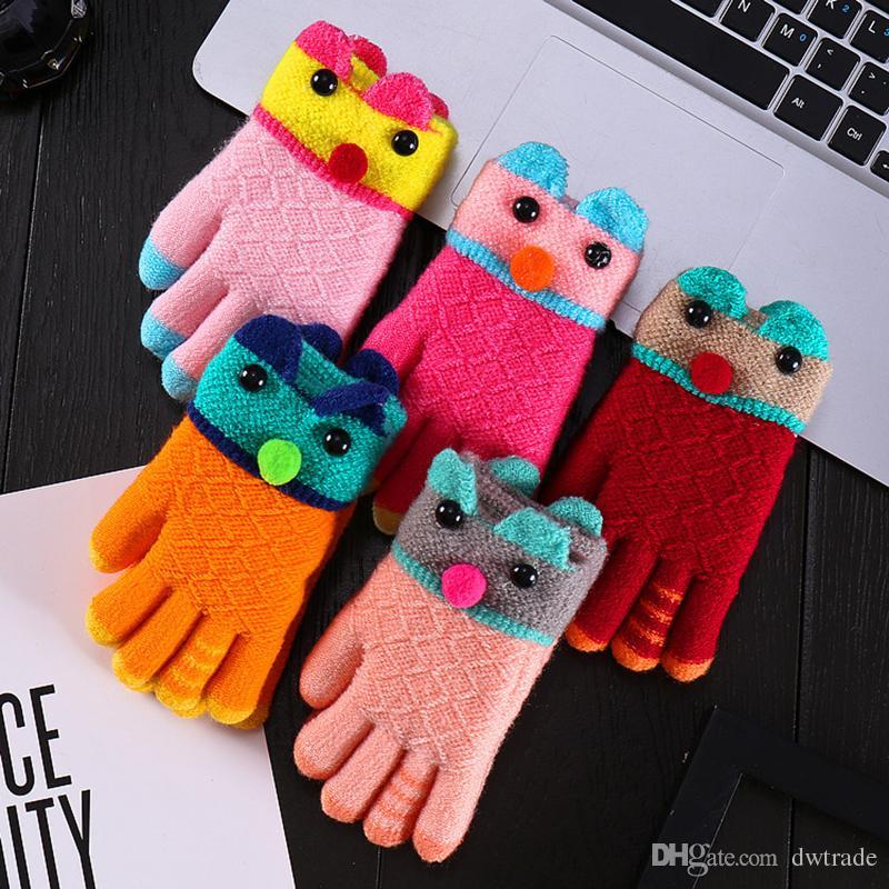Kinder Weihnachten Winter Handschuhe Kinder Baby Handschuhe Jungen Mädchen Strickhandschuhe Handschuhe Häkeln Warme Handschuhe 5 Styles
