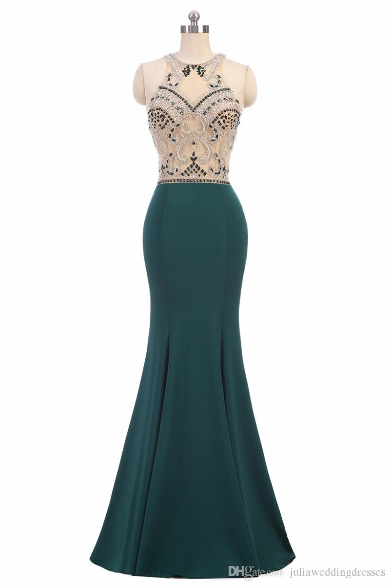 2020 Sexy cristal sirène robes de soirée formelle avec Brodé Pailleté en mousseline de soie parole longueur Plus Size Prom Party Celebrity Robes BE02