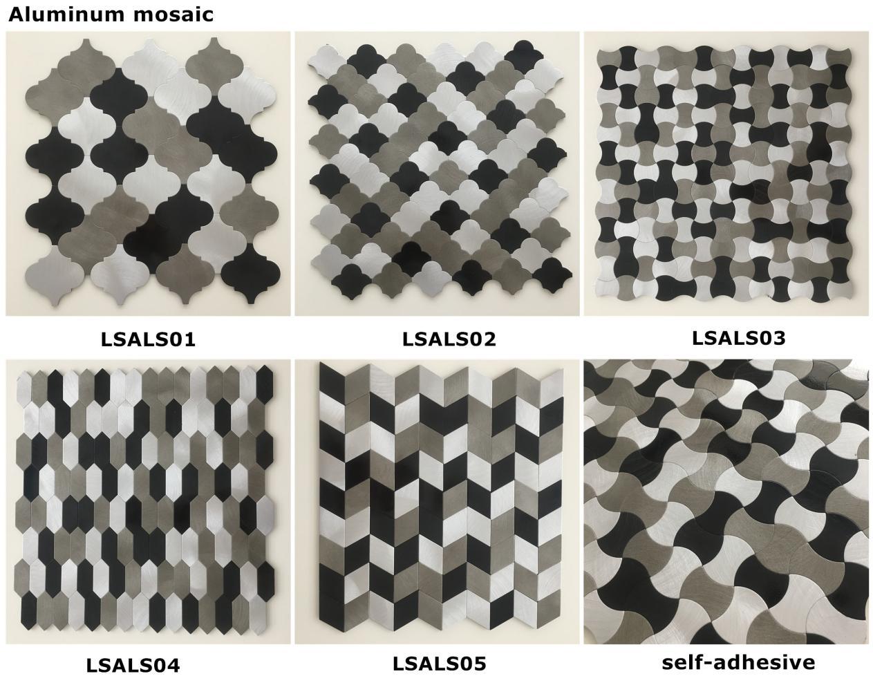 Azulejos Metalicos Materiales De Construccin Metlicos De Plata De  ~ Mosaicos De Azulejos En Paredes