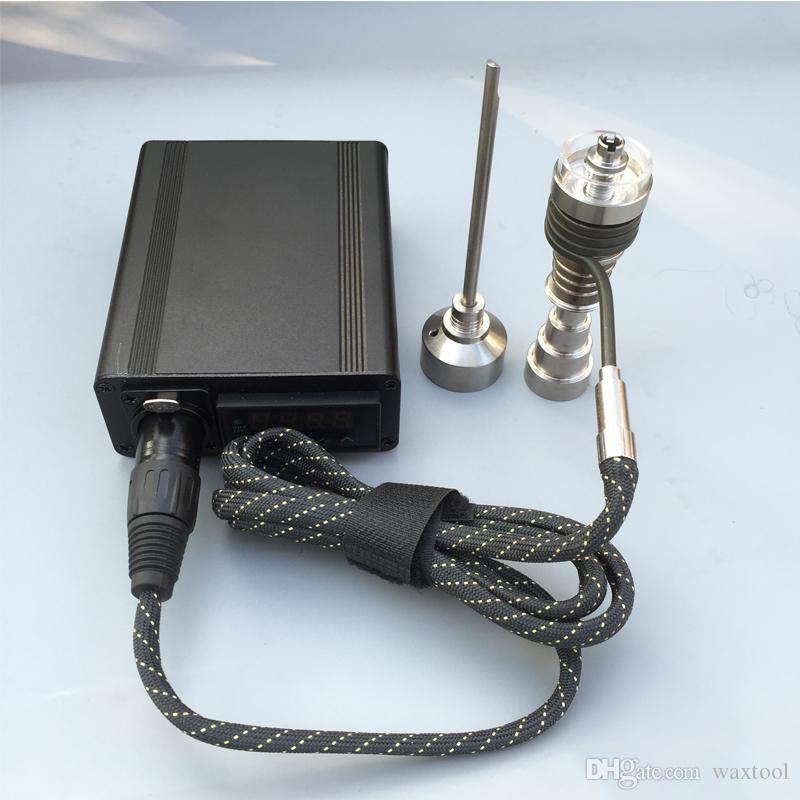 2017 nouveau Autre e-Cig Accessoires électrique Kit Nail Kit Numérique Électrique Dab ongles Titanium Nail Domeless WAX Vaporisateur À Sec Séché À Base De Plantes