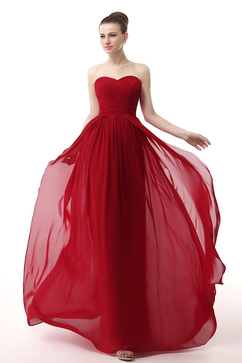 großhandel chiffon schatz elegante abendkleider rot günstige abendkleider  plissee drapierte kleider party abendgarderobe lang von missudress, 68,8 €