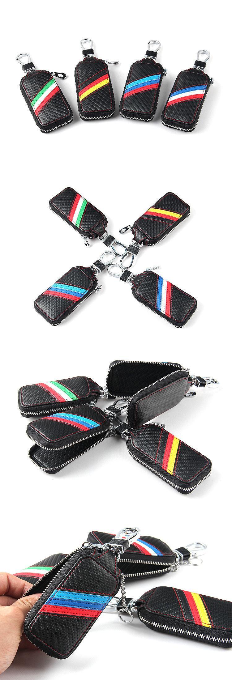 Carbon Fiber Leather Car Key For Bmw Wallet Key 3 4 5 6 7 Series