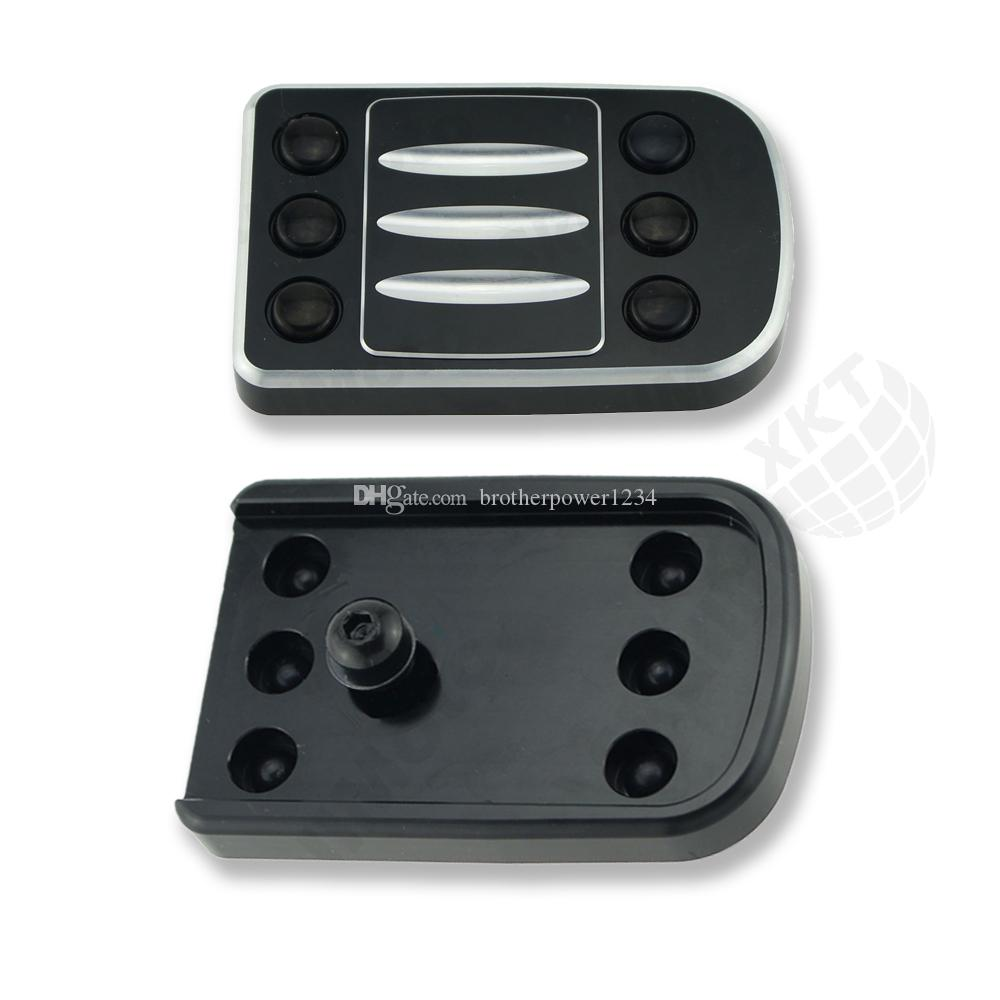 CNC Edge Cut Large Brake Pedal Pad Cover for Harley Dyna Road Glide Black