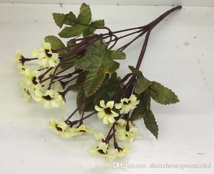 24 hoofden / boeket lente mooie daisy zijde samll zonnebloem woondecoratie foto rekwisieten kunstmatige chrysanthemum bloem