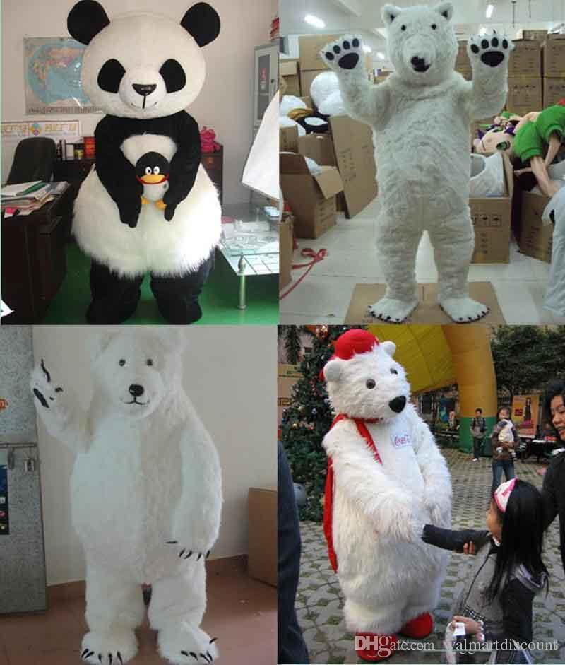 Polar Bear Mascot Costume suits High quality Dress Adults Size Party Dress