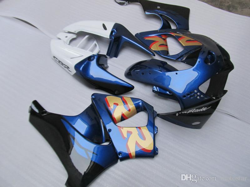 혼다 CBR919RR 용 보디 워크 플라스틱 페어링 키트 98 99 파란색 흰색 페어링 세트 CBR 900RR 1998 1999 OT31