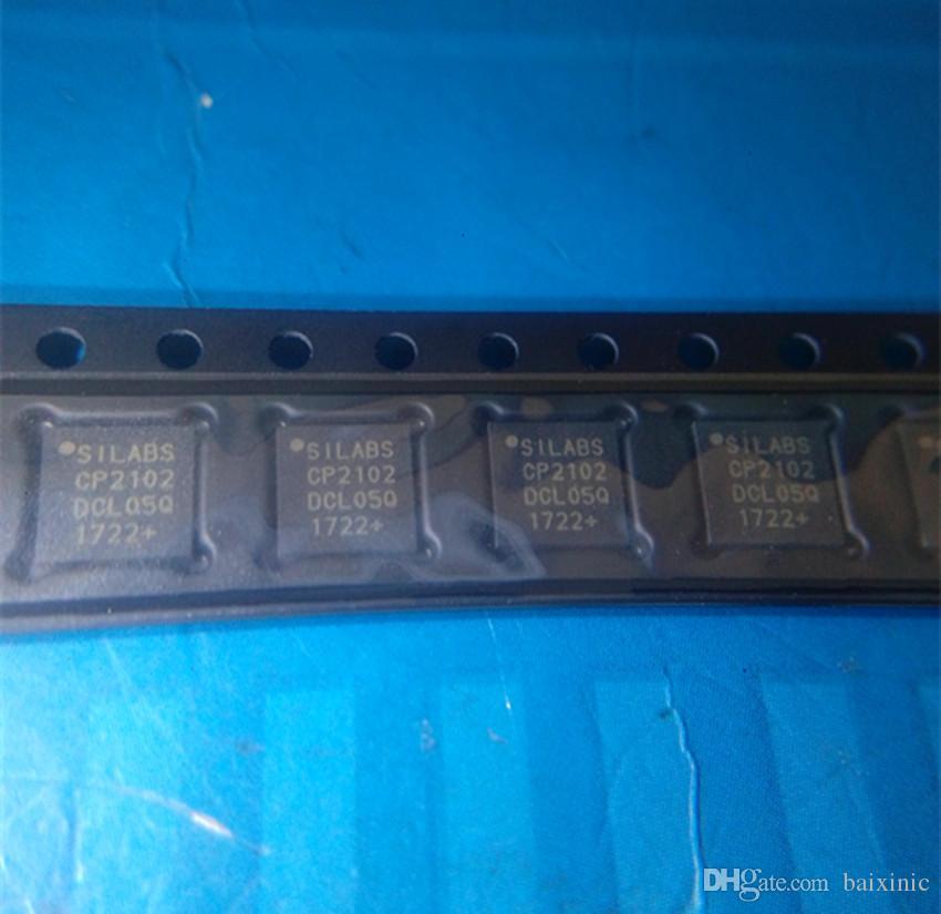 Commercio all'ingrosso 5 lotto pc CP2102 CP2102-GM CP2102-GMR BRIDGE USB-TO-UART 28VQFN in azione nuovo e originale ic spedizione gratuita