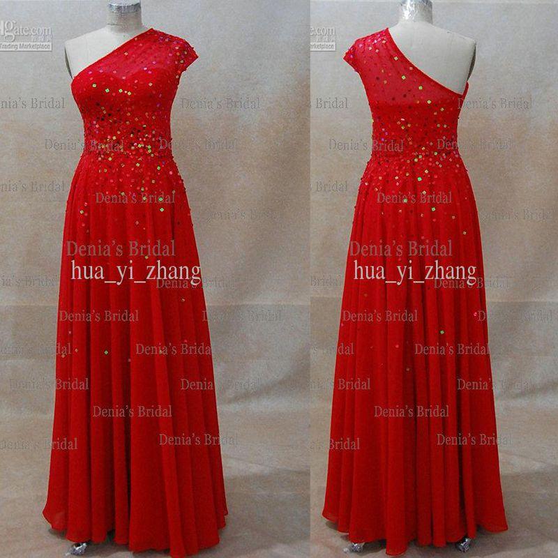 En linje One Shoulder Beaded Miranda Kerr David Jones Red Carpet Celebrity Dresses Dhyz 01 (Köp 1 Få 1 Gratis halsband)
