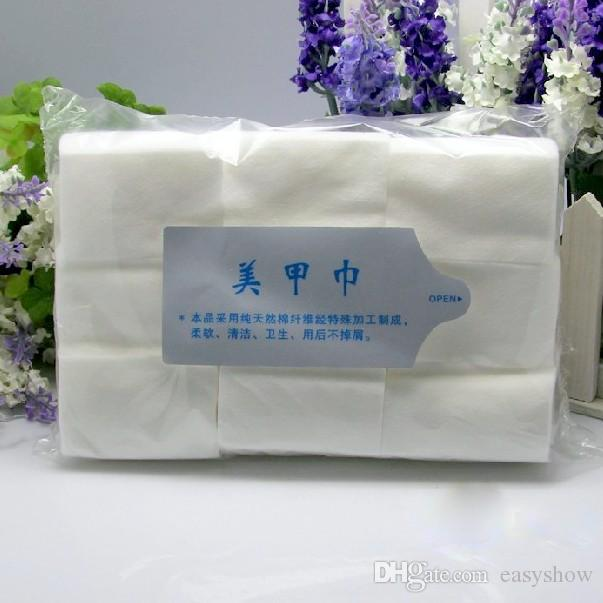 FREE DHL Hot Selling 900pcs/pack nail wipes Nail Art Tips Manicure Polish Remover Clean Wipes Cotton Lint Pads Paper
