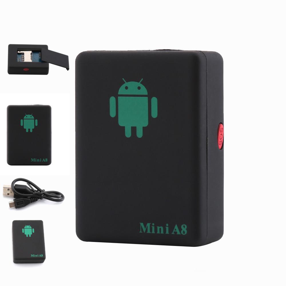 GPS мини A8 GPRS трекеры локатор в реальном времени GSM/GPRS/LBS с кнопкой SOS для автомобиля дети домашнее животное отслеживание адаптер питания отслеживая устройство