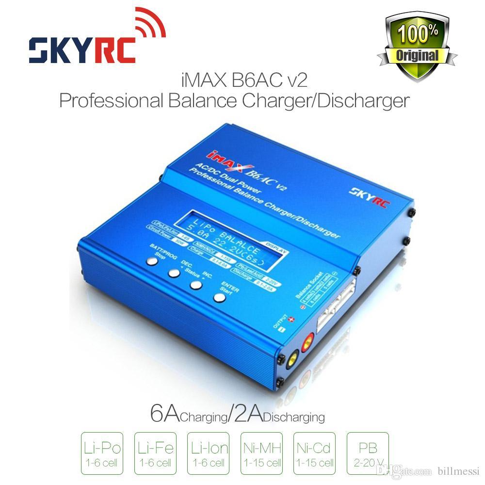 원래 SKYRC iMAX B6AC V2 6A Lipo 배터리 밸런스 충전기 RC 모델 배터리 방전 충전기 LCD 디스플레이 충전기 Re-peak 모드 핫 판매 새로운