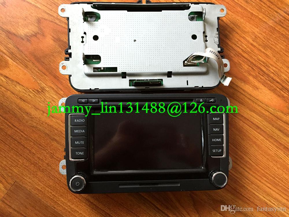 """Ücretsiz kargo Orijinal 6.5 """"LCD ekran Paneli dokunmatik ekran ile VW Volkwagen RNS510 araba GPS navigasyon ses sistemleri için LED versiyonu"""