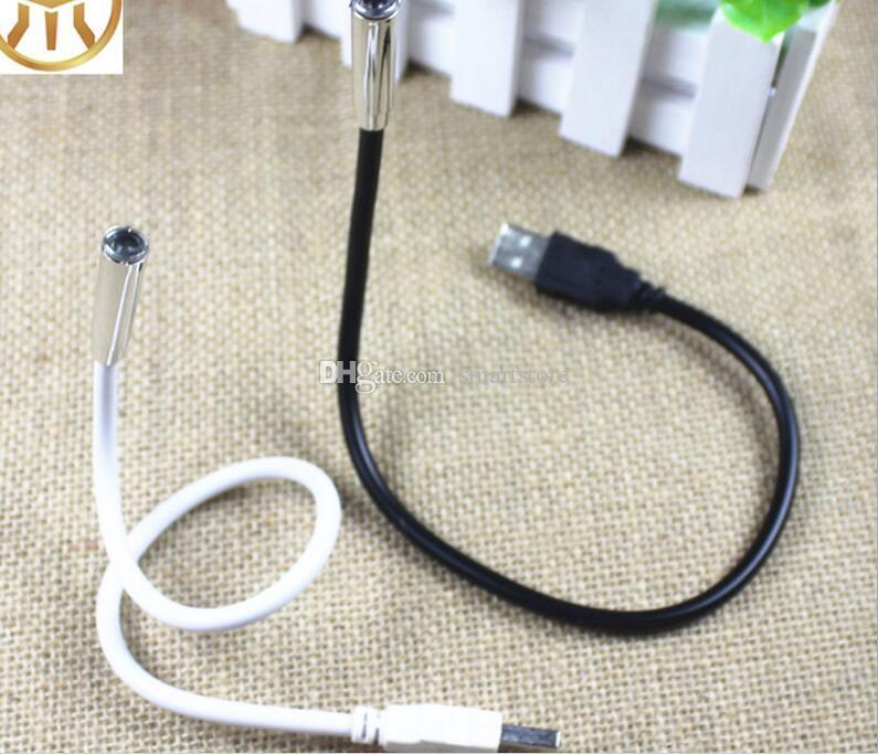 200 pz / lotto 1 LED 1 PLASTICA Flessibile Portatile USB Lampada Della Luce Per Notebook PC Portatile Spedizione Gratuita Da DHL o FEDEX 0001