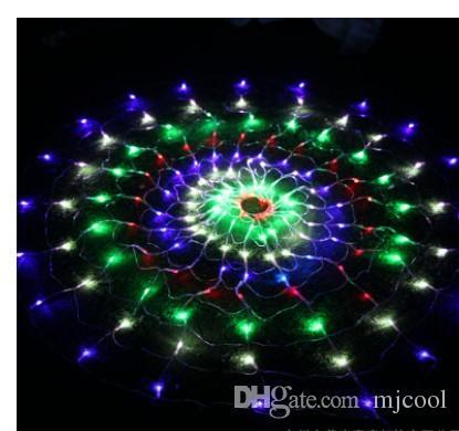 Limitado Nueva Llegada Luces de Hadas Azules Decoración de Boda 110v-240v Bombillas Led Red de Araña Decorar Luz 120 Boda Navidad Fiesta de Navidad