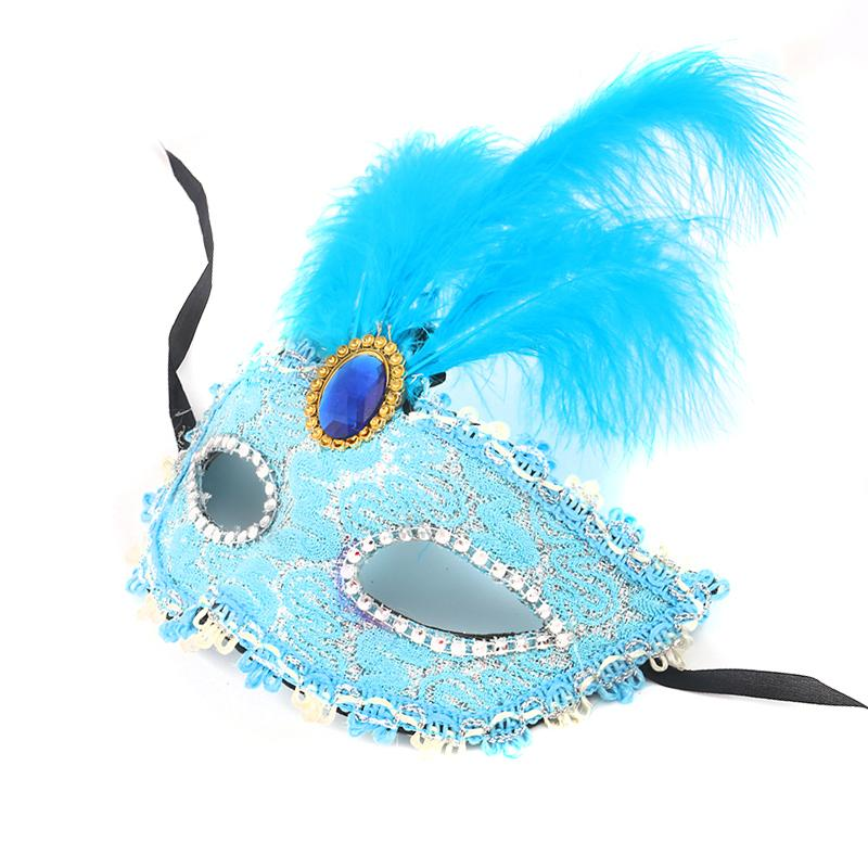 Costume Sexy Masks Diamondhalloween With Lace Feather Carnival Mask Fancy Venetian Party Masquerade Dress Long Ball Half Face