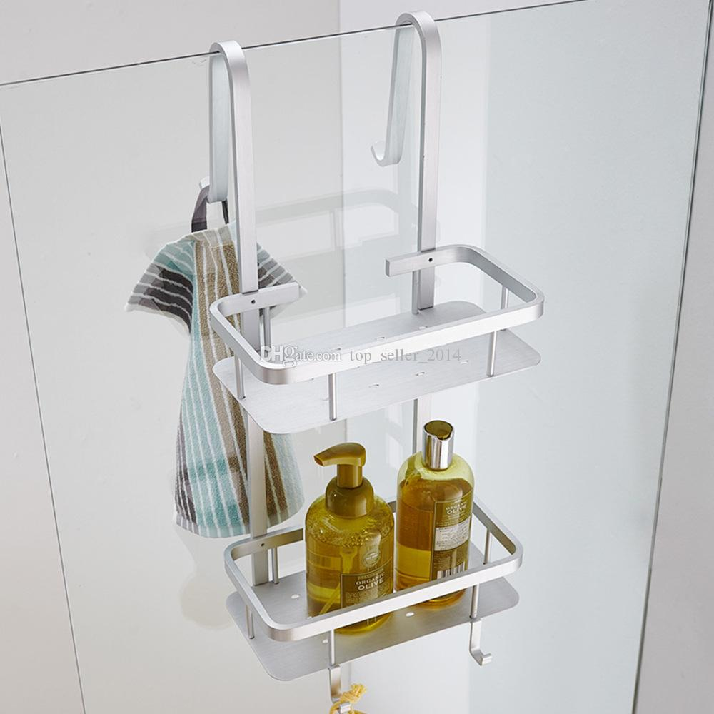 2017 2 Tier Bathroom Over The Door Shower Caddy Basket Hanging ...