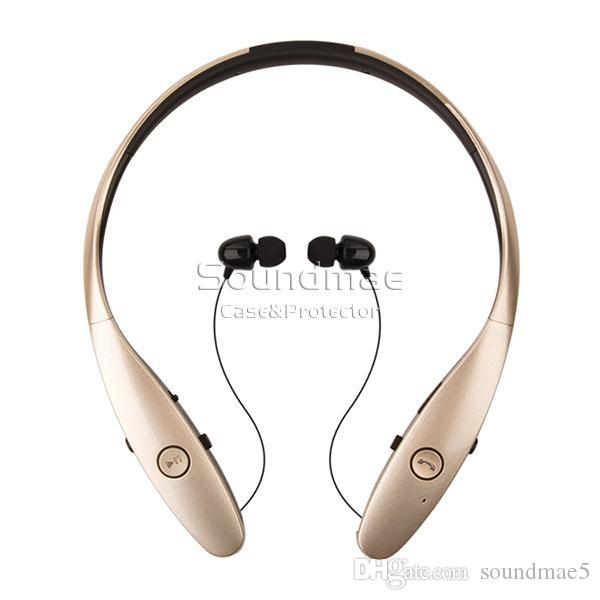 HBS-900 Stereo Wireless Bluetooth headset Headphone CSR CHIP Sports Style with Retractable wire management handsfree for IOS Android