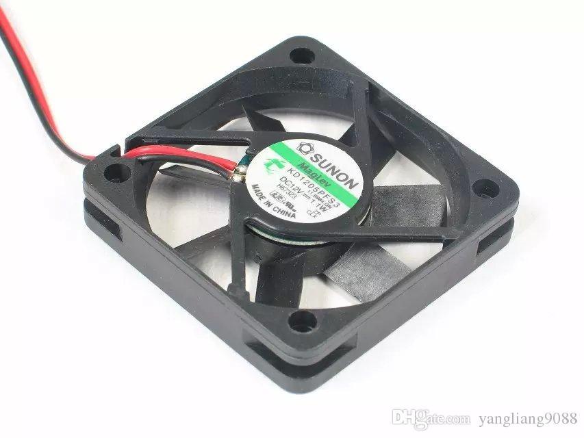 무료 배송 SUNON KD1205PFS3,11.B984.GN 용 DC 12V 1.1W 2 선식 2 핀 커넥터 50mm 50x50x10mm 서버 스퀘어 냉각 팬