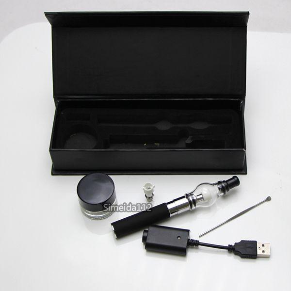 Gift box Electronic Cigarettes eGo-T Starter kit E Cig glass globe Vaporizer Bulb Atomizer wax dry herb Vaporizers Clearomizer vape pens