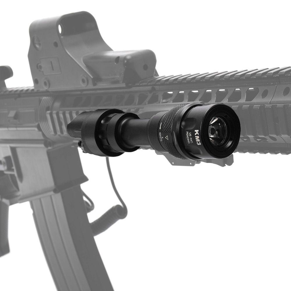 Elemento tattico SF M952V LED torcia elettrica Tactical Gun Light Rail highlight + Strobe Mounted (M952V BK / CB) per 20mm Weaver Picatinny paramani