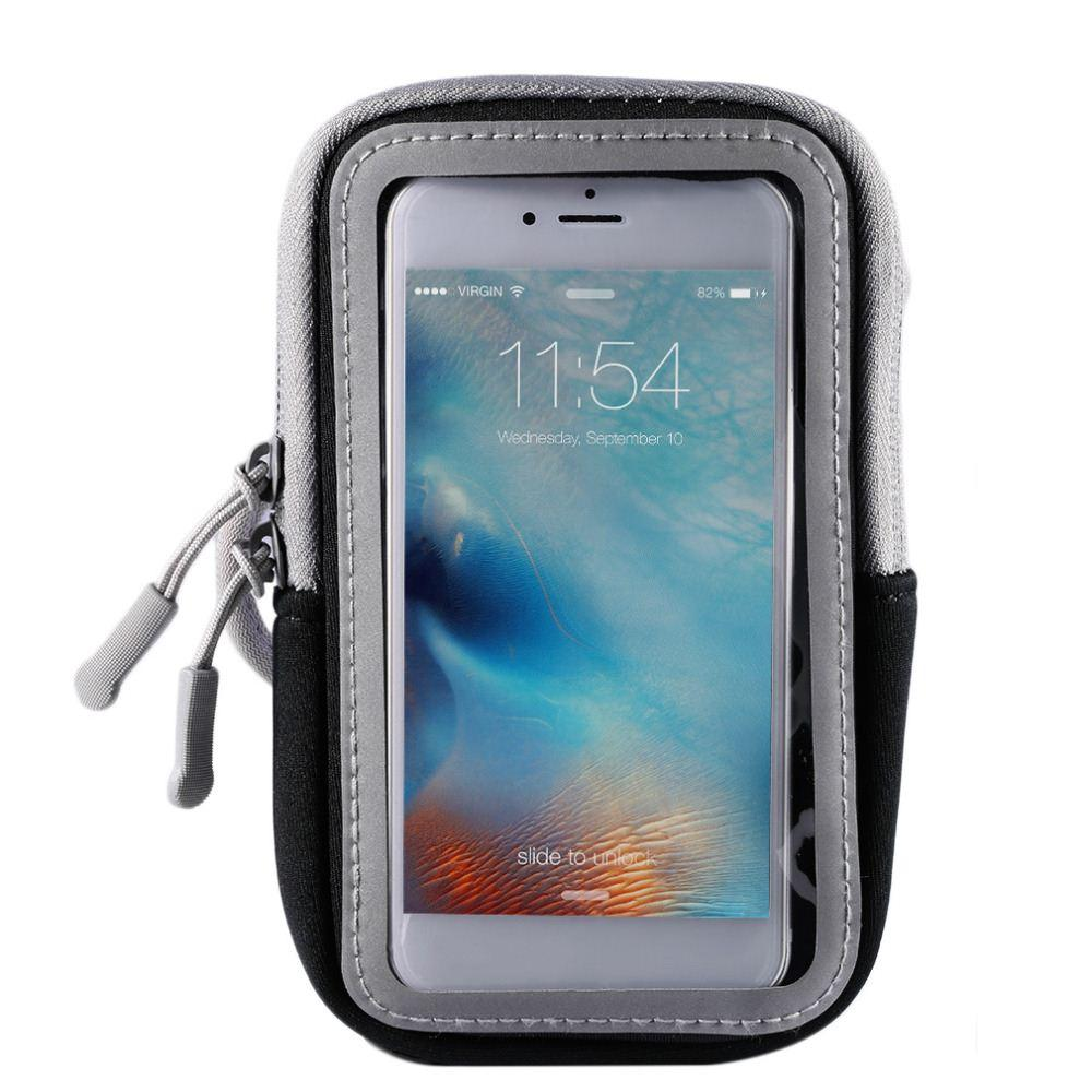 5/6 Inch Outdoor Sport Universal Breathable Large Capacity Touch Screen Arm Band Case Arm Bag Gym Pounch Running Accessory