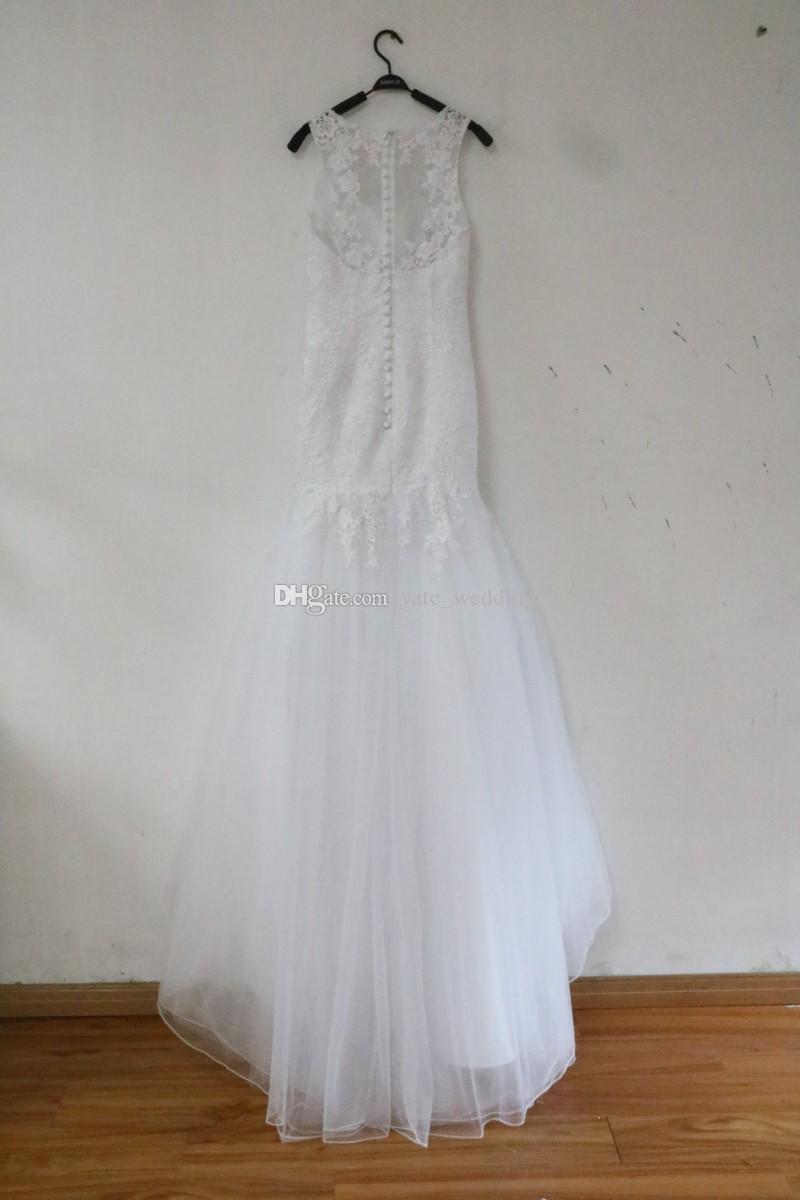 Großhandel 100% Real Image Elegante Meerjungfrau Brautkleider Sheer ...