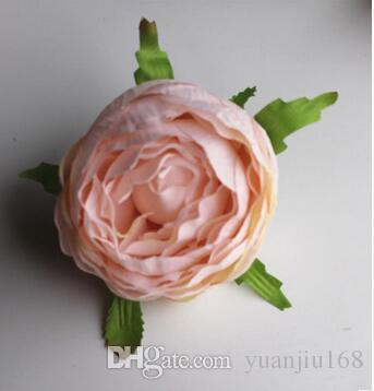 Die Pfingstrose-Tee-Rosen-Silk Hochzeits-Ballrose blüht Maßwerkwand DIY 50pcs / lot