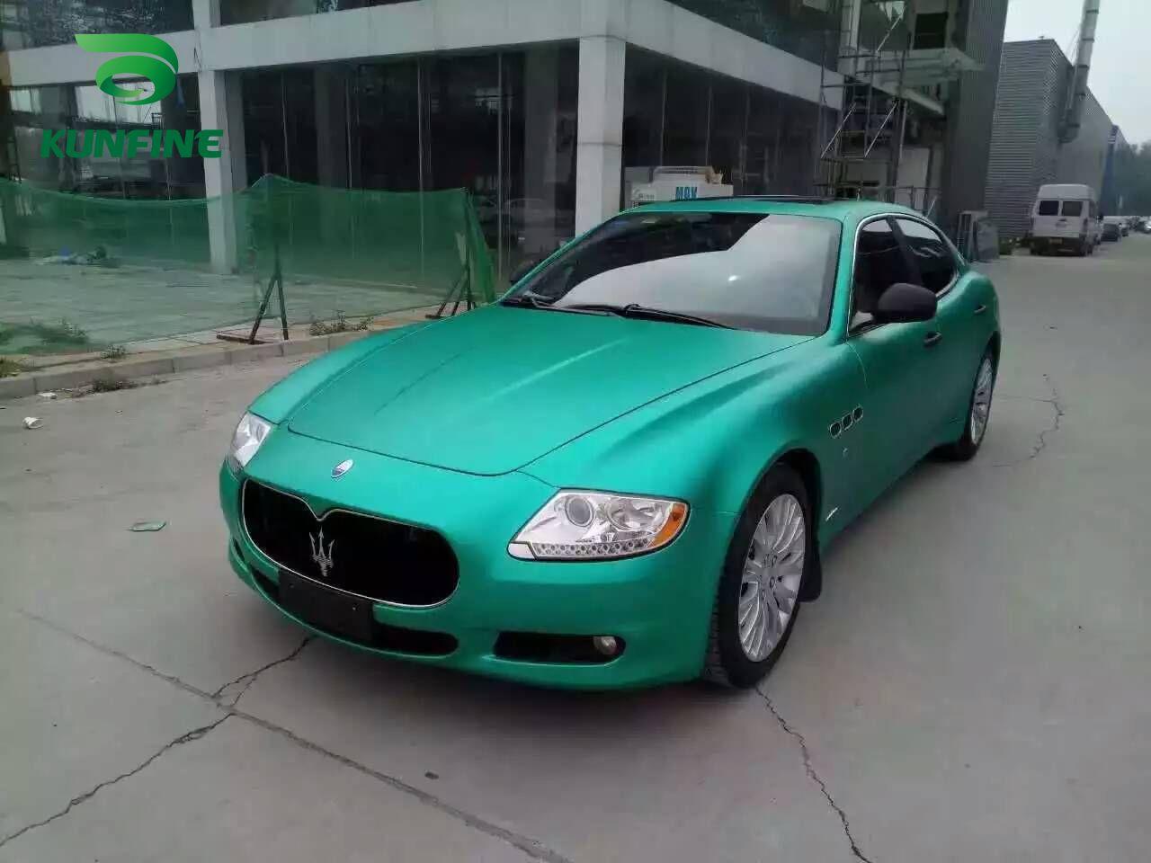 Araba Styling Wrap Matt Buz Yeşil Araba Vinil film Vücut Sticker Araç Wrap Ile Vehiche Motosiklet Için Hava Ücretsiz Kabarcık 1.52 * 20 M / Rulo KF-F1068