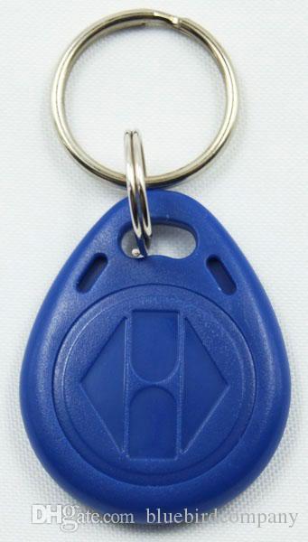 100 pz / lotto 125 KHz di prossimità ABS tag chiave RFID portachiavi per controllo accessi riscrivibile ATMEL T5577 chip