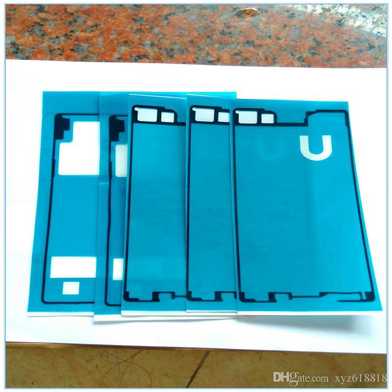 5 Sets=10pcs LCD Front Panel Frame + Back Battery Door Cover Adhesive Sticker Glue For Sony Xperia Z Z1 Z1 Mini Z2 Z3 Z3 Mini Z4 Z5 Z5 min