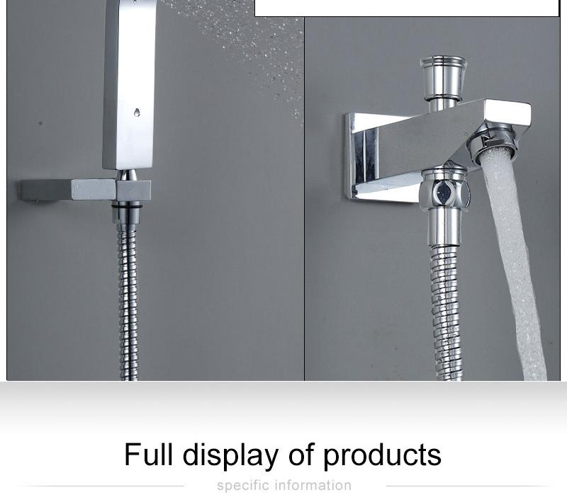 Waterfall LED Shower Faucet Set Contemporary Bathroom Rain Shower Head Side Spray Large Water Flow Bath Valve (9)