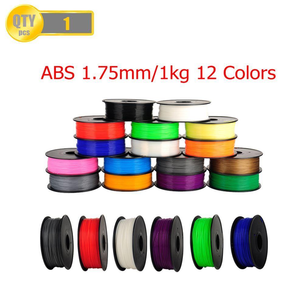 Freeshipping ABS 1.75mm 1Kg / bobina di plastica di gomma del nastro di gomma materiali di consumo ricariche per filamenti stampante MakerBot / RepRap / UP / Mendel 3D