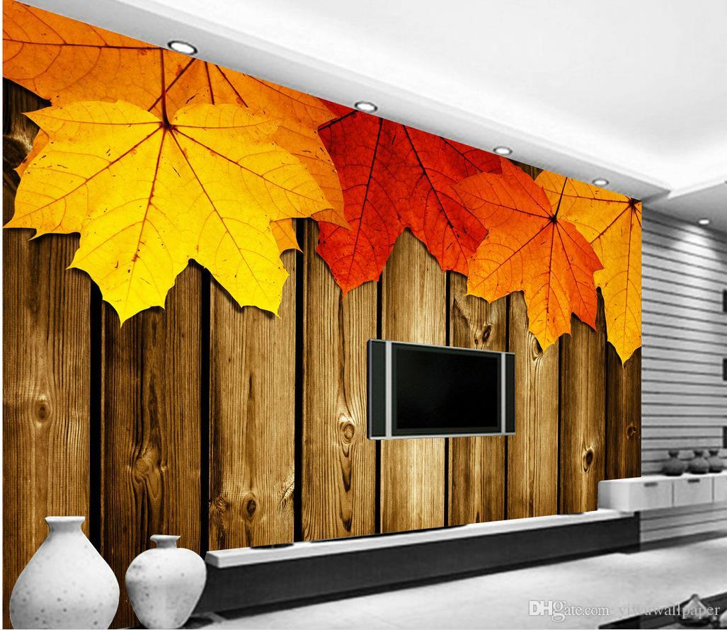 3D Colorful Graffiti Maple Wall Paper Decal Dercor Home Kids Nursery Mural  Home