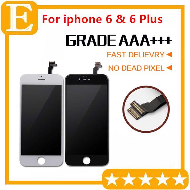 Teste branco preto Passou para iphone 6G 6 Plus tela de toque LCD tela sensível ao toque comletely digitalizador de montagem de peças de reposição 5PCS