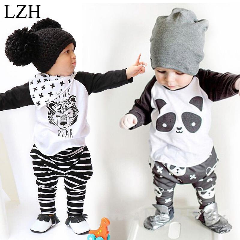 Venta al por mayor-recién nacidos ropa de bebés 2017 nueva primavera niños camiseta de algodón + pantalones traje de las muchachas del juego del deporte ropa infantil conjunto de ropa para niños