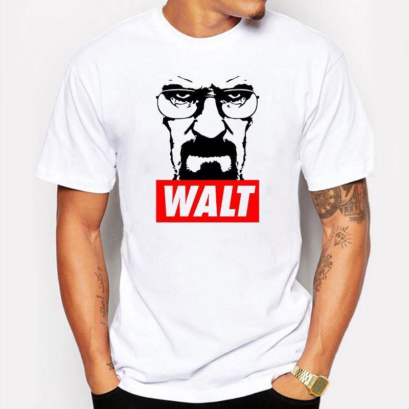 Мужская одежда мужчины Breaking Bad г-н Белый Гейзенберг Месье печатных футболки летняя новинка футболки повседневная футболка homme