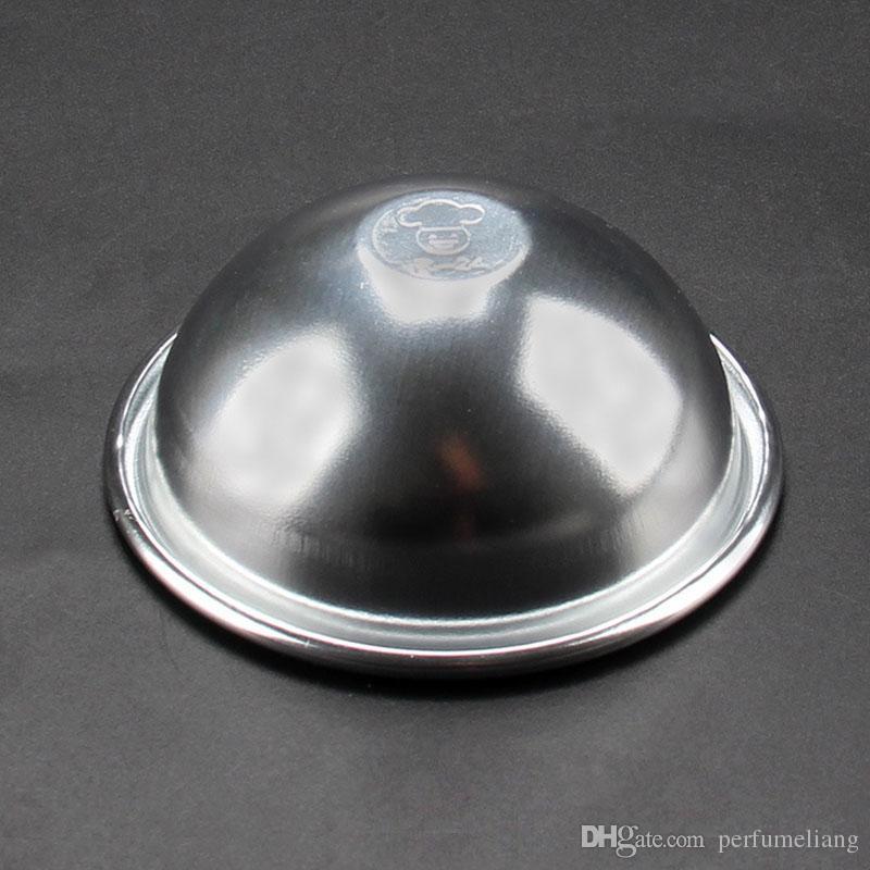 8cm Diameter Bath Bomb Molds Mould Aluminum Ellipsoid 3D Cake Mold Pan Baking Pastry Tools Free Shipping ZA4347