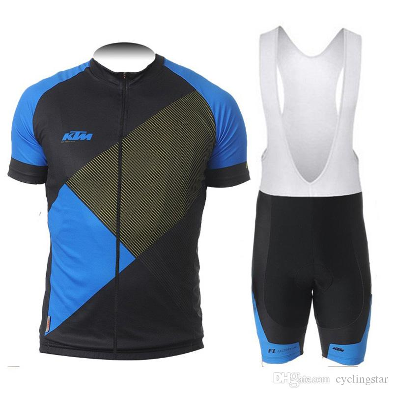 2019 ktm Cycling Jersey bib shorts set Breathable sport wear cycling clothes Bicycle Clothing Lycra summer MTB Bike maillot Y052906