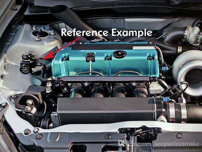 Kit de medidor de regulador de presión de combustible ajustable universal Kit de válvula de carrera Juego de refuerzo de combustible reacondicionado Medidor de combustible de 160 psi