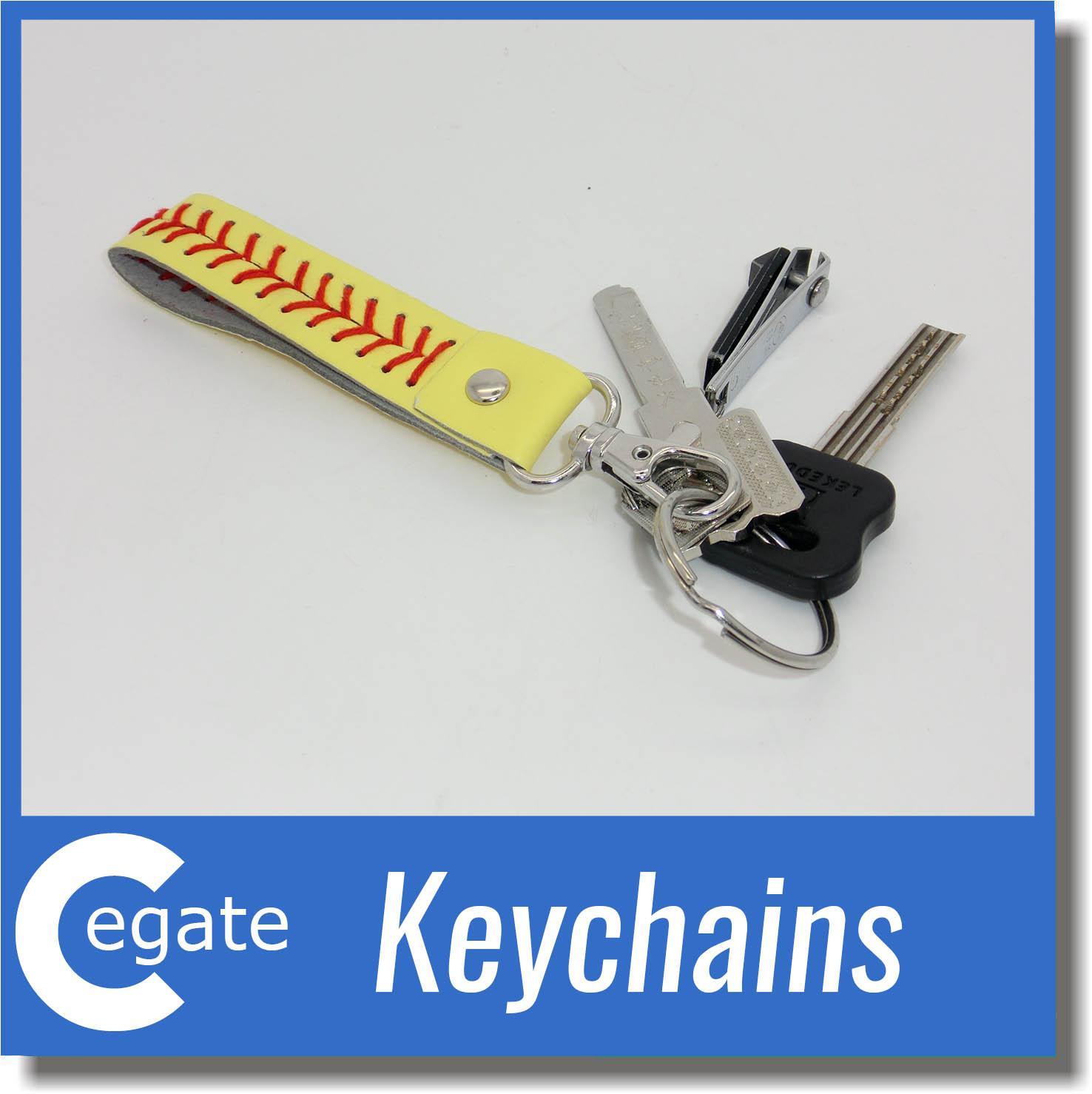 2016 baseball keychain,fastpitch softball accessories baseball seam keychains many colors free DH