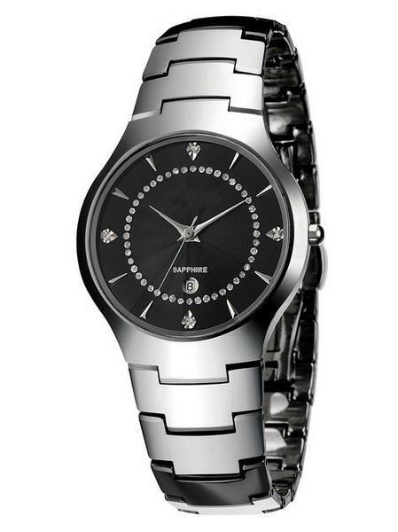 Lady relógio de pulso à prova d 'água de diamantes relógios de mesa de aço de tungstênio relógio dos homens amantes da moda assistir homens