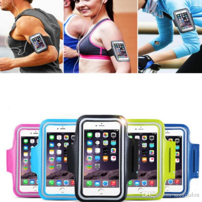 caso de telefone celular Sports impermeáveis executando saco do telefone Titular saco Armband Workout pounch Mobile para iPhone Sumsung Xiaomi universal