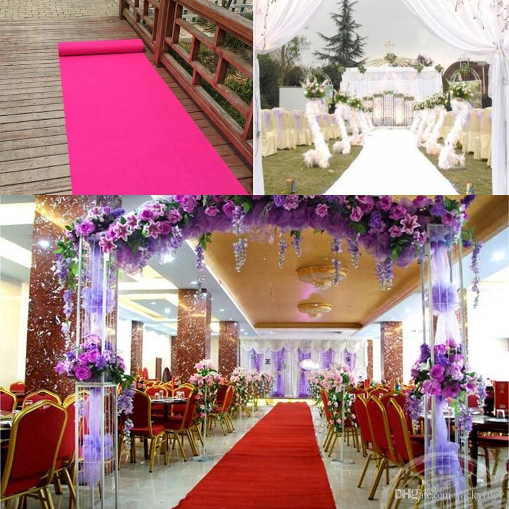 1 M Wide X 25 M Roll Fashion Wedding Aisle Runner Carpet Non Woven Wedding T Station Decoration Carpets Shooting Props Wedding Decorations For Tables